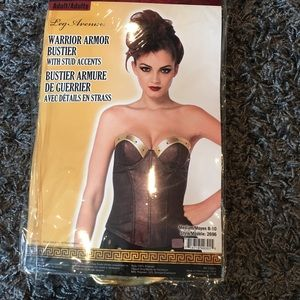 Halloween costume Warrior Armor Bustier size8-10